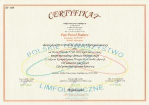 certyfikat masażysty Paweł Badura
